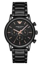Men's Emporio Armani Ceramic Chronograph Bracelet Watch, 43mm