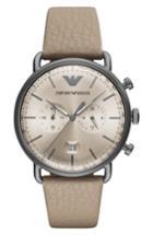 Men's Emporio Armani Leather Strap Chronograph Watch, 43mm