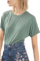 Women's Topshop T-shirt Bodysuit Us (fits Like 0) - Green