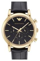Men's Emporio Armani Leather Strap Watch, 46mm