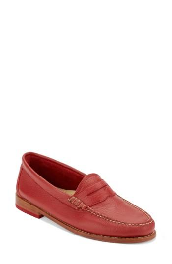 Women's G.h. Bass & Co. 'whitney' Loafer .5 W - Red