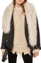 Women's Topshop Faux Fur Stole, Size - Ivory