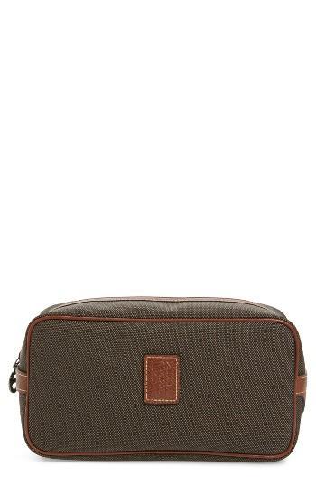 Longchamp Boxford Canvas & Leather Cosmetics Case, Size - Brown