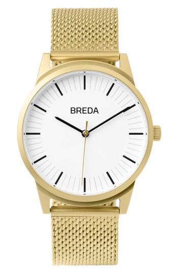 Men's Breda Bresson Mesh Strap Watch, 39mm