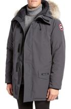 Men's Canada Goose Langford Slim Fit Down Parka With Genuine Coyote Fur Trim, Size - Grey