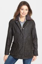 Women's Barbour Beadnell Waxed Cotton Jacket Us / 10 Uk - Green