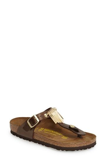 Women's Birkenstock 'gizeh' Fringe Thong Sandal -9.5us / 40eu D - Brown