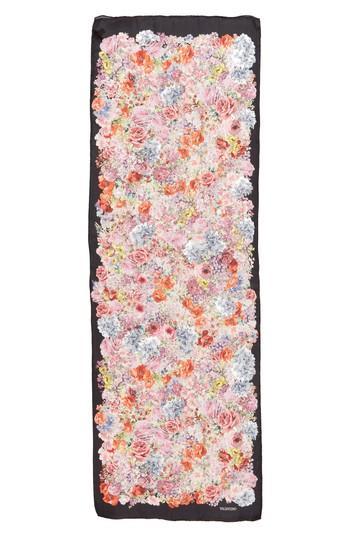Women's Valentino Jardin Des Fleurs Silk Stole, Size - White