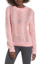 Women's Topshop Strawberry Cream Open Knit Sweater Us (fits Like 6-8) - Pink