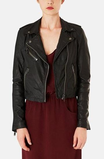 Topshop Boutique Leather Moto Jacket