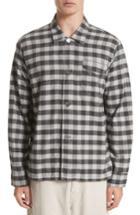 Men's Our Legacy Buffalo Check Flannel Sport Shirt Eu - Black