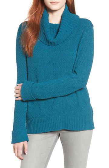 Women's Caslon Cuff Sleeve Sweater - Blue