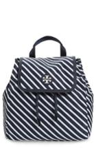 Tory Burch Small Scout Stripe Nylon Backpack -