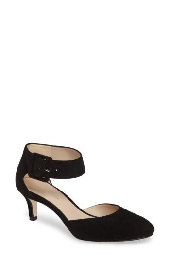 Women's Pelle Moda Ankle Strap Pump .5 M - Black