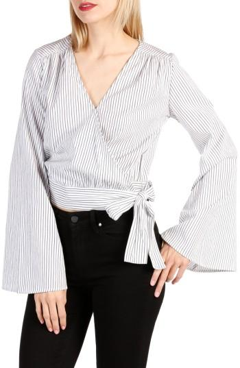 Women's Paige Marianne Cotton Wrap Top - White
