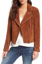 Women's Blanknyc Suede Moto Jacket - Brown