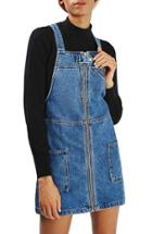 Women's Topshop Denim Utility Pinafore Dress