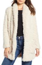 Women's Bb Dakota Faux Fur Mix A Lot Teddy Bear Coat