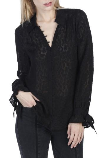 Women's Paige Emberly Silk Blouse - Black
