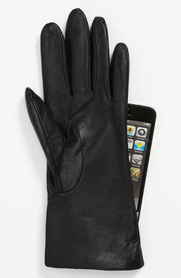 Fownes Brothers 'basic Tech' Cashmere Lined Leather Gloves (nordstrom Exclusive)
