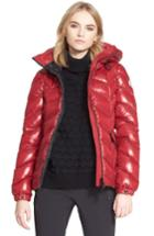 Women's Moncler 'badete' Hooded Down Puffer Coat - Red