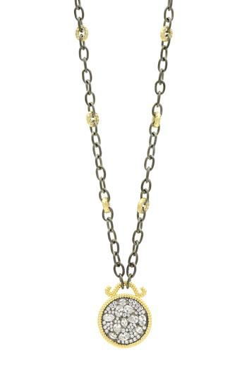 Women's Freida Rothman Gilded Cable Reversible Pendant Necklace