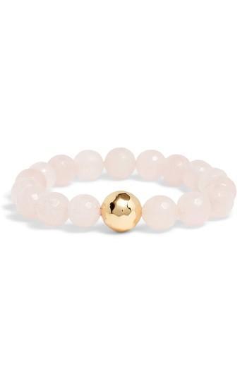 Women's Power Gemstone Rose Quartz For Love Bracelet