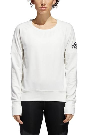 Women's Adidas Performance Pullover - White