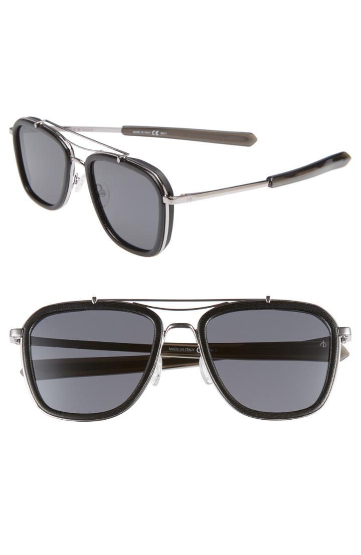 Men's Rag & Bone 54mm Polarized Aviator Sunglasses -
