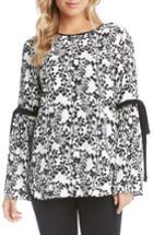 Women's Karen Kane Tie-sleeve Top - White