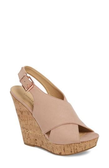 Women's Chinese Laundry Myya Slingback Wedge Sandal M - Pink