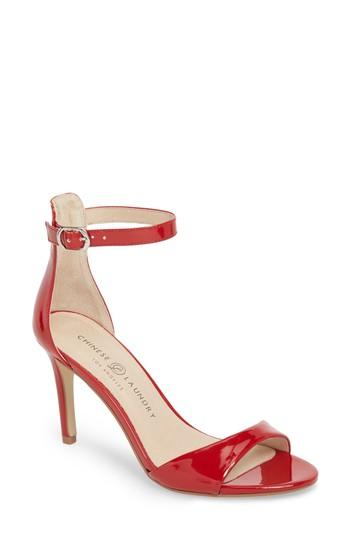 Women's Chinese Laundry Simone Ankle Strap Sandal M - Red