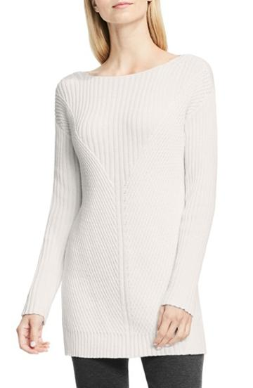 Women's Vince Camuto Rib Knit Long Sweater - White