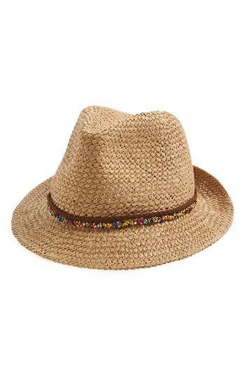 Women's Steve Madden Woven Panama Hat - Beige