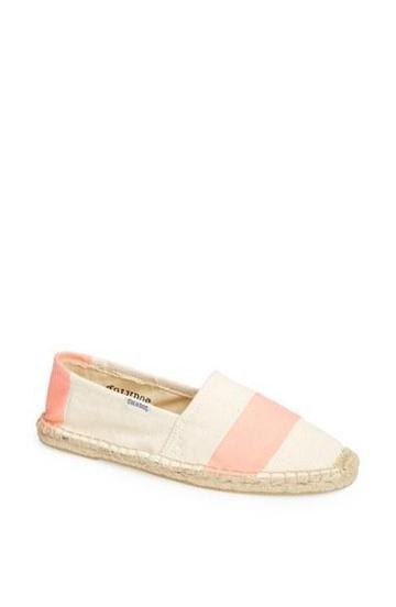 Soludos 'barca' Stripe Espadrille (women) Natural/ Peach