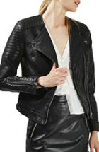 Women's Topshop Nelly Faux Leather Biker Jacket