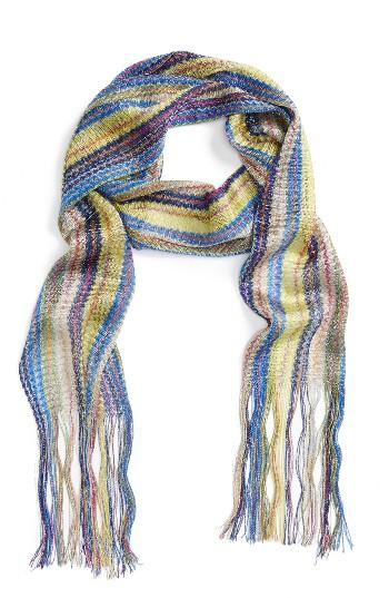 Women's Collection Xiix Havana Waves Slimmy Scarf, Size - Blue