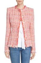 Women's Alexander Mcqueen Ribbon Tweed Jacket Us / 36 It - Red