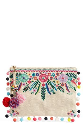 Steven By Steve Madden Embroidered Clutch -