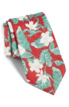 Men's The Tie Bar Floral Linen Tie, Size - Red