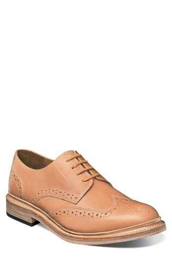 Men's Stacy Adams M2 Wingtip Derby D - Brown