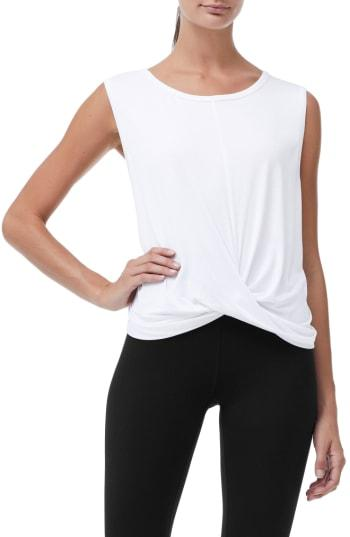 Women's Good American Knotted Tank Top - White
