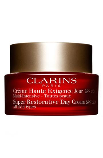 Clarins Super Restorative Day Illuminating Lifting Replenishing Cream Spf 20 .69 Oz