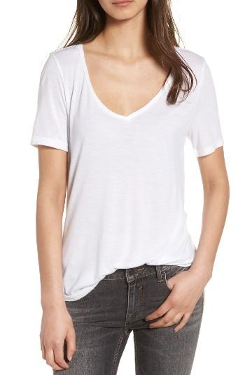 Women's Bp. Raw Edge V-neck Tee - White