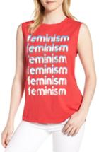 Women's Rebecca Minkoff Feminism Muscle Tee - Red