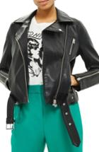 Women's Topshop Willow Faux Leather Biker Jacket