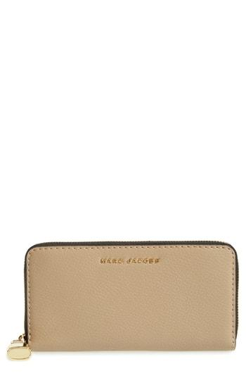 Women's Marc Jacobs The Grind Standard Continental Wallet - Beige