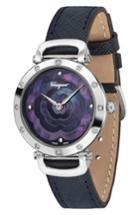 Women's Salvatore Ferragamo Diamond Leather Strap Watch, 34mm