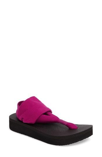 Women's Sanuk Yoga Sling Platform Sandal M - Purple