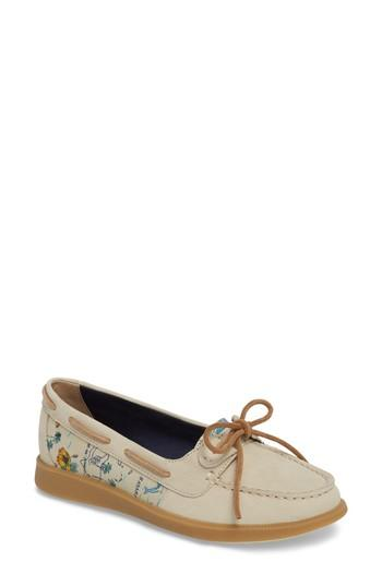 Women's Sperry Oasis Boat Shoe .5 M - Beige